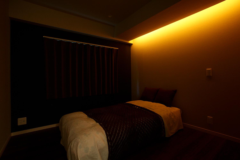 間接照明が美しい客室