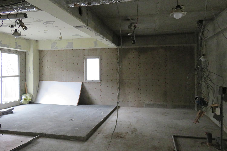 東側洋室スケルトン