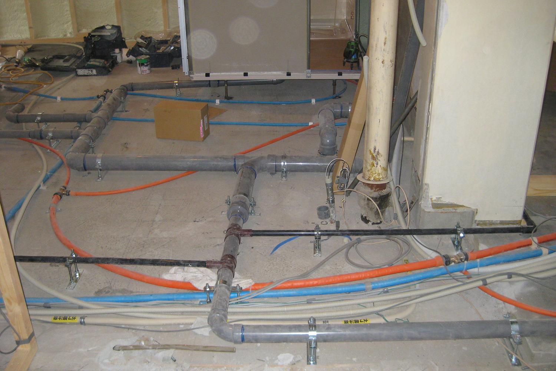 給排水管の配置