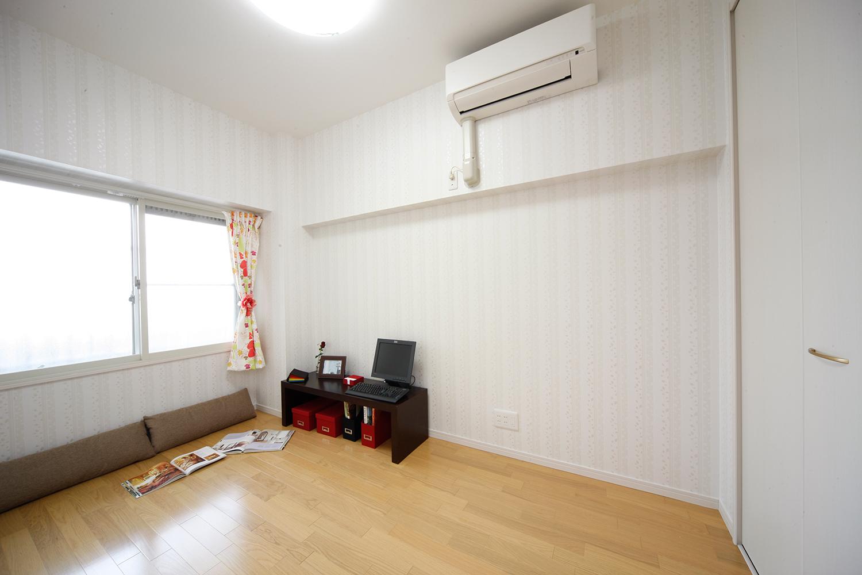 施工後北側部屋壁付けエアコン設置