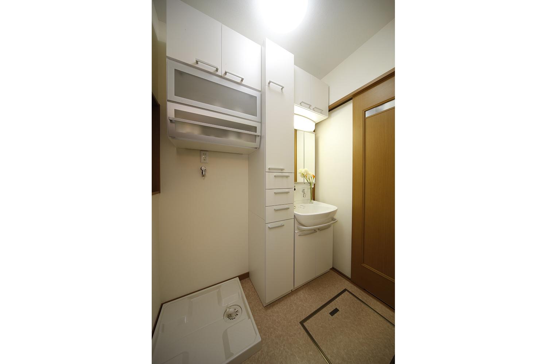 リフォーム後の洗面と収納