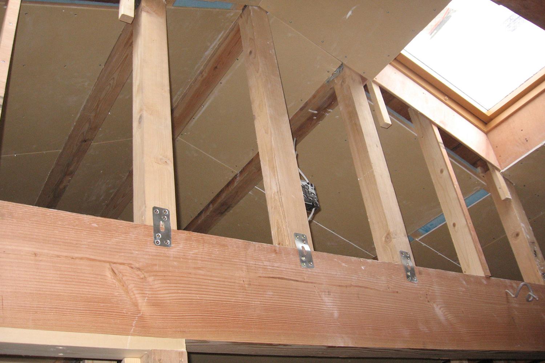 施工中の2階ロフト
