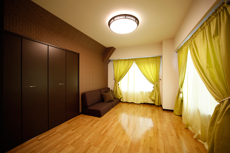 バリ風の寝室
