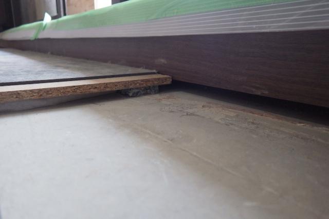 床のコンクリート~下地~防音シート