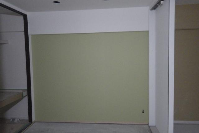 リフォーム中の和室壁面