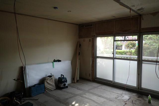 解体後の西側和室