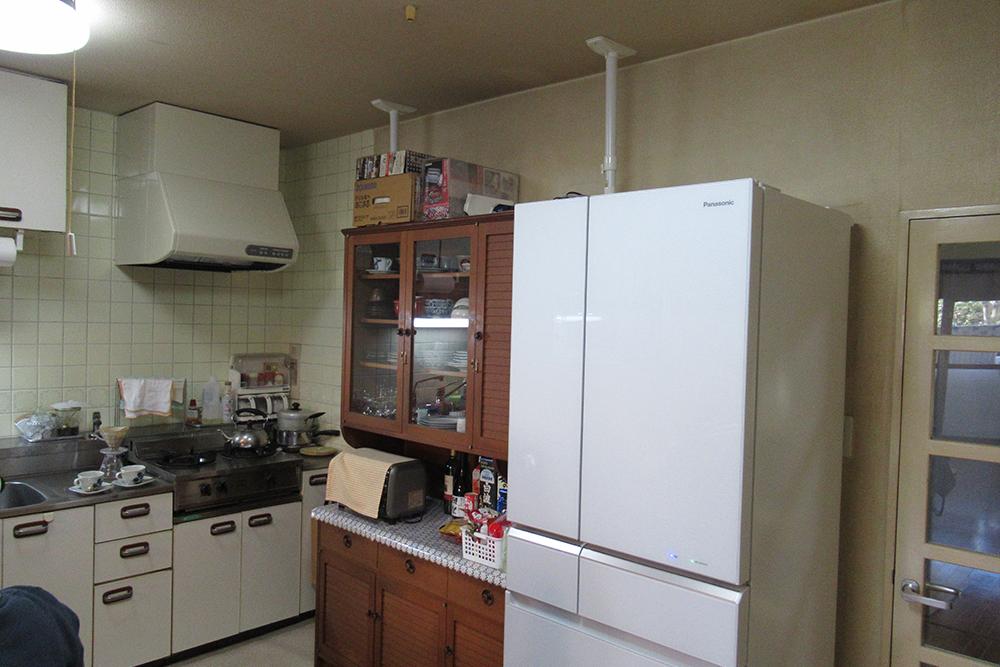 リフォーム前のキッチン収納