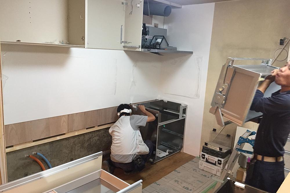 キッチン昇降機取り付け前