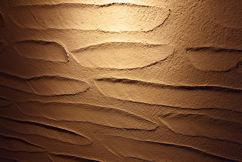 寝室のシラス壁 デザイン塗り