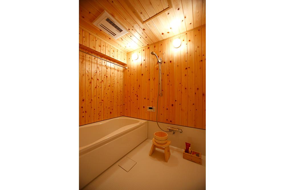 ヒノキ浴室の全体図