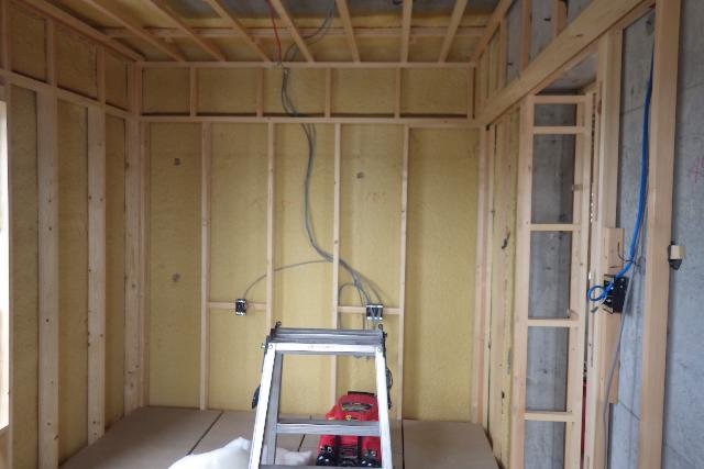 書斎リフォームの壁木枠