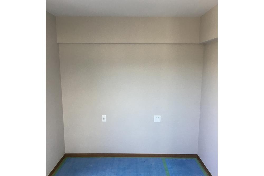 書斎リフォーム中 壁完成